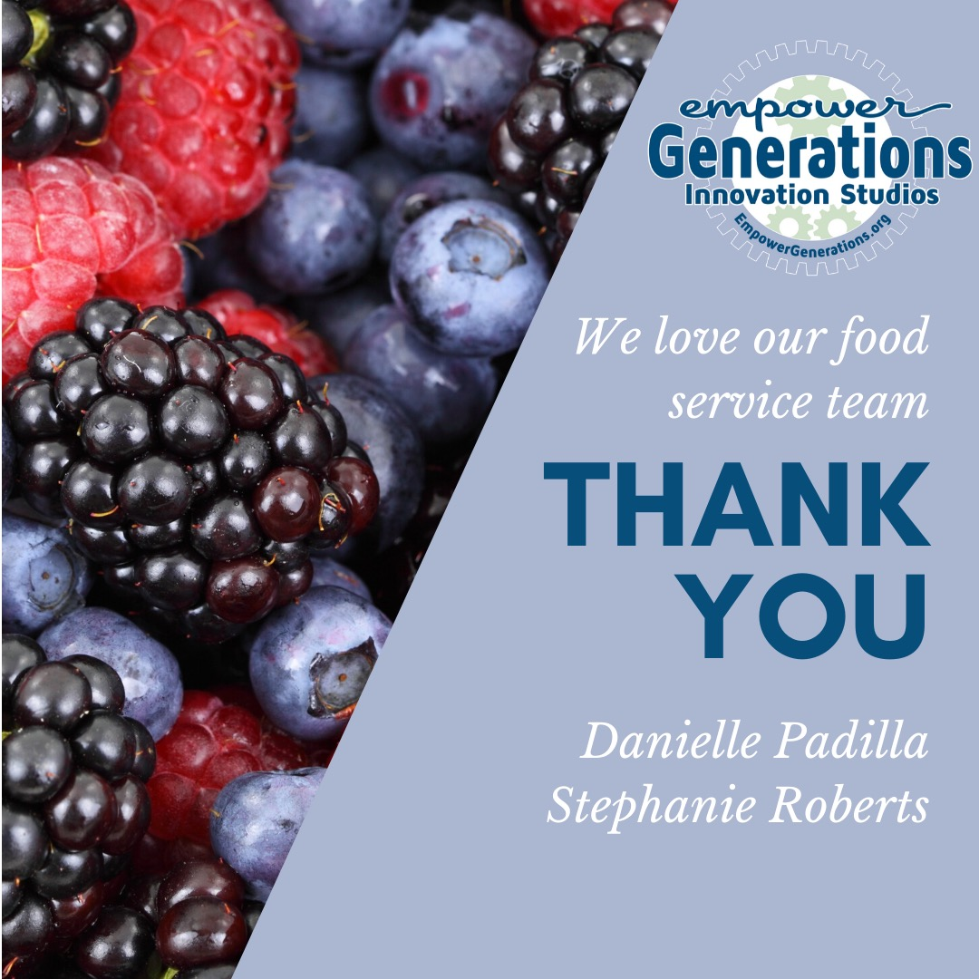 Empower Generations meal service thank you