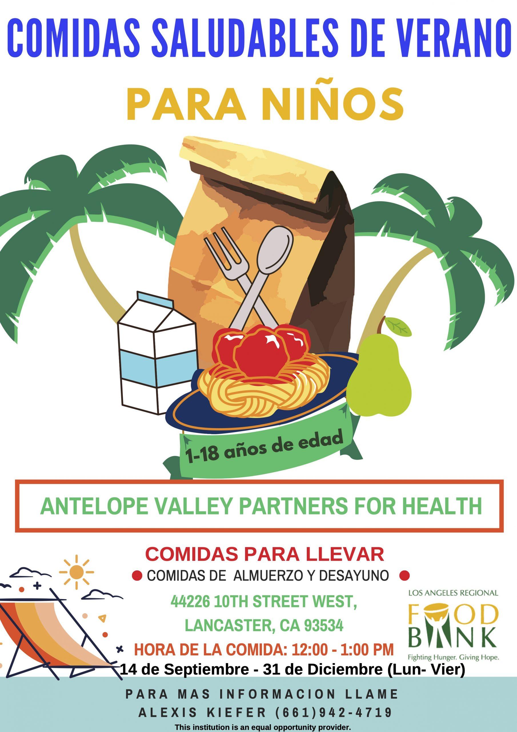Lunch Flyer from AV Partners in Spanish