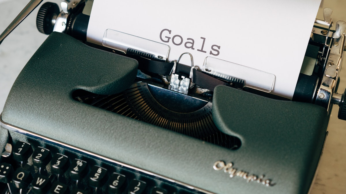typewriter with the word goals Social Emotional Learning Empower Generations