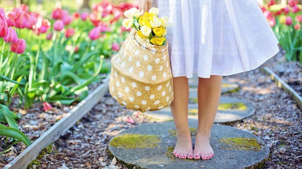 woman in garden spring