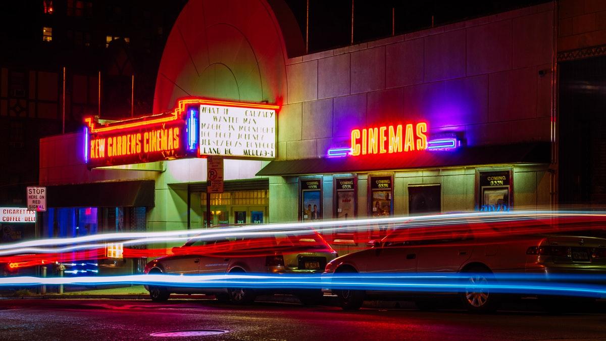 movie theatre night traffic