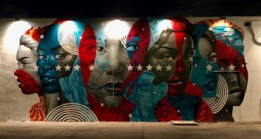 street art women united states wall