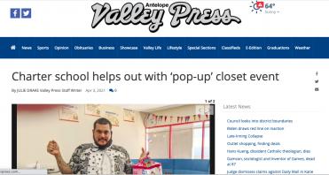 Empower Generations Antelope Valley Press pop-up closet